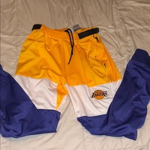 Los Angeles lakers tear away game pants size L